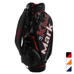 キスマーク 左右非対称デザイン キャディバッグ 9型 KM-0B1000CB メンズ ゴルフ kissmark|アルペン PayPayモール店