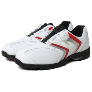ティゴラ TIGORA TR-0S1055 シューズ TGF ダイヤル式 スパイクレス :ホワイト×レッド ゴルフ メンズ golf5