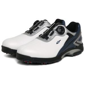 ティゴラ TIGORA TR-0S1004 メンズ ゴルフシューズ TGF ダイヤル式 ソフトスパイク : ホワイト×ネイビー golf5