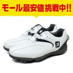 フットジョイ ゴルフシューズ 16 EXL スパイクボア メンズ ゴルフ ダイヤル式スパイクシューズ 2E : ホワイト×ネイビー FOOT JOY FJ