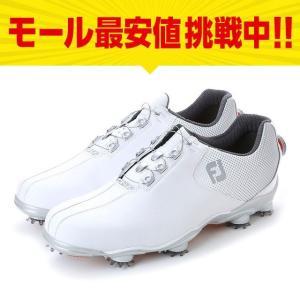 フットジョイ 17 DNA ボア 53330 ダイヤル式 ゴルフシューズ 3E ソフトスパイク メンズ ゴルフ : ホワイト×シルバー FOOT JOY FJ