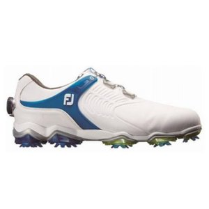フットジョイ ゴルフシューズ 18 TOURS ボア WT/BL 9248854754 メンズ ゴルフ ダイヤル式スパイクシューズ 2E : ホワイト×ブルー FOOT JOY FJ