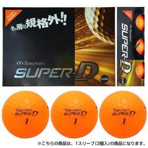 トブンダ TOBUNDA 2016年モデル TOBUNDA SUPER-D スーパーディー ゴルフ ボール 1スリーブ 3個入 :フラッシュオレンジ golf5|alpen-group