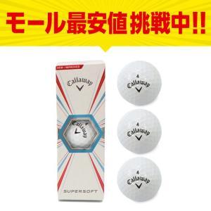 キャロウェイ ゴルフボール SUPERSOFT 1スリーブ 3個入 ホワイト スーパーソフト Callaway