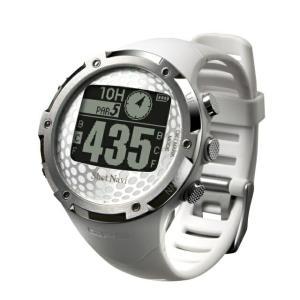 ショットナビ SN-W1-FW-W WH ウォッチ ゴルフ 距離測定器 時計 距離計 ナビ GPSナ...