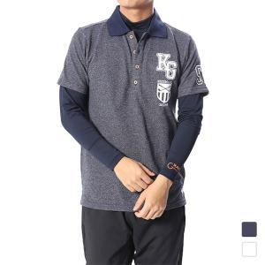キスマーク メンズ ゴルフ セットシャツ KM-1L1538RYP kissmark|alpen-group