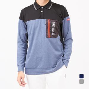 キスマーク ゴルフウェア 長袖シャツ KM-1L1520P 胸ポケット付き メンズ kissmark|アルペン PayPayモール店