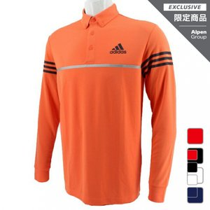 アディダス ゴルフ 長袖シャツ アルペン 限定 スリーストライプス 長袖ボタンダウンシャツ FM7513 S 3L 4L 小さいサイズ 大きいサイズ メンズ adidas