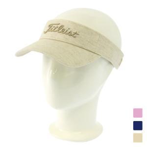 タイトリスト レディース ゴルフ サンバイザー レディースリネンバイザー 8LVL 96830765...