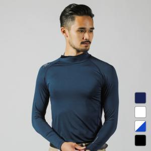 ◇ハイネックタイプのコンプレッションインナーシャツ。UVカット/吸汗速乾/ストレッチ■カラー:ネイビ...