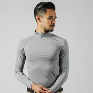 ◇ハイネックタイプのコンプレッションインナーシャツ。UVカット/吸汗速乾/ストレッチ■カラー:ライト...
