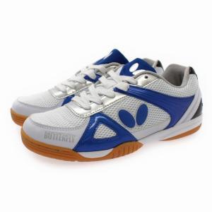 BUTTERFLY バタフライ メンズ 卓球シューズ レゾライン トライネックス : ホワイト×ブルー 93600|alpen-group