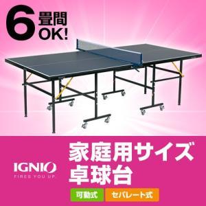 イグニオ IGNIO 卓球台 家庭用サイズ 卓球台 移動キャスター付 代引可能 IG-2PG 0036 カラー ネイビー|alpen-group