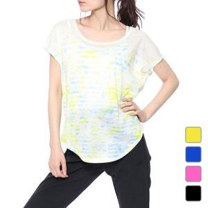 キスマーク レディース フィットネス 半袖Tシャツ KM-3I418 グラデ kissmark|alpen-group
