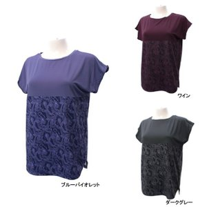 キスマーク レディース フィットネス 半袖Tシャツ KM-3I617 kissmark|alpen-group