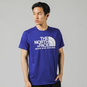 【9月22日先着順ゾロ目クーポン最大9%】ショートスリーブGTDロゴクルー(メンズ)  アズテックブルー S NT31970 ノースフェイス  Tシャツ UVカット アウトドアの商品画像|ナビ