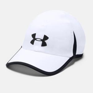 アンダーアーマー 陸上 ランニング キャップ UA SHADOW CAP 4.0 (1291840 100) 帽子 : ホワイト UNDER ARMOUR
