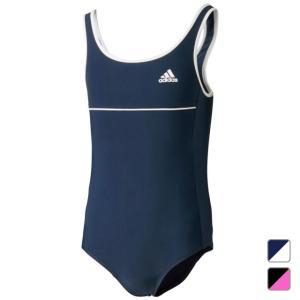 adidas アディダス ジュニア キッズ・子供 女子 女の子 スイミング スクール水着 ベーシックスイムスーツ Uバック BIN61