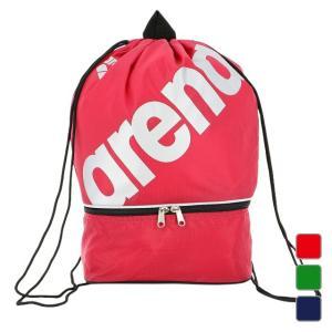 f2674050412 ◇2ルーム仕様のプールバッグ。大きなarenaロゴのスポーティなデザイン。