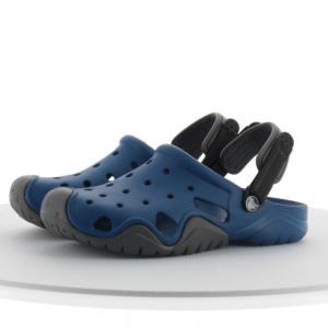 クロックス スウィフトウォーター クロッグ 2022514HC メンズ クロッグサンダル Swiftwater Clog M : ブルー×グレー crocs