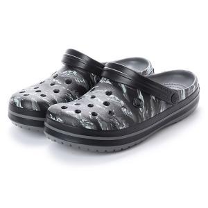 クロックス クロックバンド グラフィック クロッグ 204553007 クロッグサンダル メンズ Crocband Graphic Clog : ライトグレー crocs
