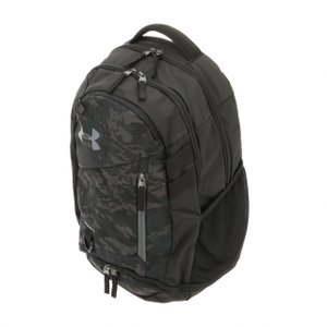 アンダーアーマー UA Hustle 4.0 Backpack 1342651 デイパック 29.4L : ブラック×グレー UNDER ARMOURの画像
