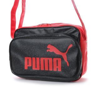 プーマ トレーニング PU ショルダー M 075370 エナメルバッグ : ブラック×レッド PUMA...