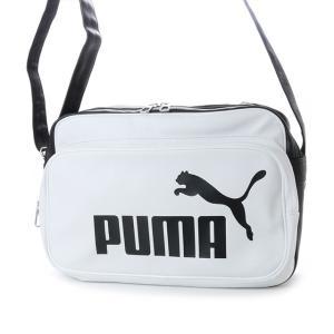プーマ トレーニング PU ショルダー M 075370 エナメルバッグ : ホワイト×ブラック PUMA...