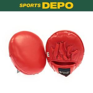 マーシャルワールド Martial World 格闘技 ボクシンググローブ マルチパンチングミット : レッド PM-68 RD|alpen-group