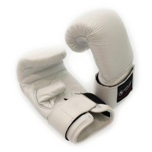 マーシャルワールド Martial World リストベルトパンチンググローブ:ホワイト PG40 格闘技 ボクシンググローブ|alpen-group