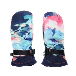 ロキシー レディース スノーボード グローブ JETTY SE MITT : ネイビー×ピンク ERJHN03077 手袋 ミトン スキー ROXY