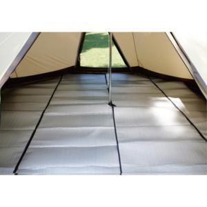 ◇ピルツ15用。テント内に敷くピッタリサイズのクッション性のあるマットです。■素材:ポリエステルリッ...