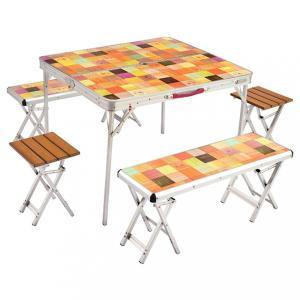 Coleman コールマン テーブル ナチュラルモザイクファミリーリビングセットプラス 2000026757|alpen-group