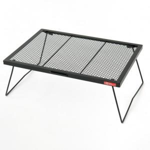 ◇ラス網仕様のメッシュタイプのローテーブル。ツーバーナーも置ける大判サイズ■構成部材:スチール(粉体...