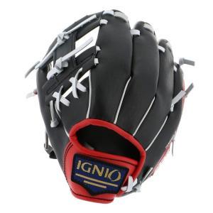 イグニオ IG-8BG4017BKRD オールラウンド 軟式野球グローブ 野手用グラブ 右投げ用 IGNIO|alpen-group