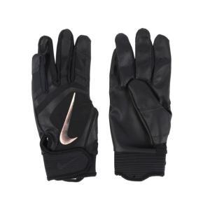ナイキ 野球 バッティング用手袋 アルファ ハラチ エッジ BA1017-014 : ブラック×ゴー...
