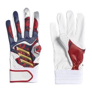 アディダス ジュニア 野球 少年野球用 バッティング用手袋 5Tバッティンググラブ3ST ETY48 CX2044 : ネイビー×ゴールド 左手用 adidas|alpen-group