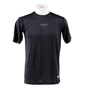 ローリングス メンズ 野球 半袖アンダーシャツ 超冷 半袖ストレッチドライアンダーシャツ J00601598 Rawlings|alpen-group