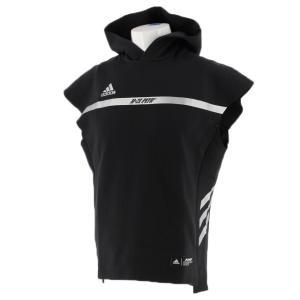 アディダス メンズ 野球 アウターウェア 5T スウェット HYPE FTJ04 DU9545 : ブラック スリーブレス フーディー adidas|alpen-group
