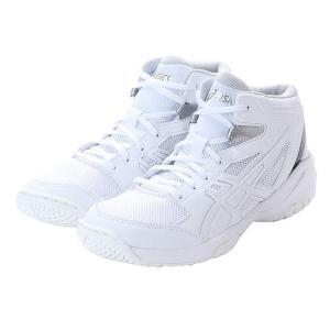 アシックス ダンクショット MB 8 TBF139 0101 ジュニア キッズ・子供 バスケットボール シューズ DUNKSHOT : ホワイト×ホワイト asics|alpen-group