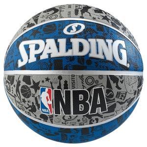 スポルディング バスケットボール グラフィティ ブルー 7号球 83-176Z 練習球 SPALDING|alpen-group