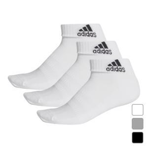 アディダス 3P ソックス パフォーマンス ショートソックス (FIX63) 3足組靴下 adidasの画像