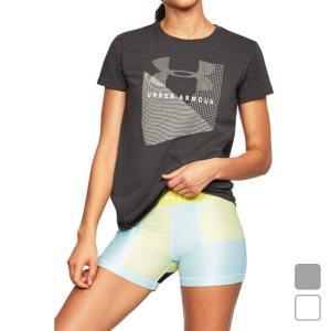 アンダーアーマー レディース 半袖Tシャツ UA Sportstyle Mesh Logo Crew 1310488 UNDER ARMOUR