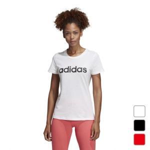 アディダス レディース Tシャツ 半袖Tシャツ W 半袖 リニア コットン Tシャツ FRU56 adidas alpen-group