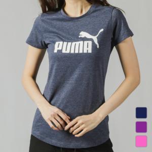 プーマ レディース 半袖Tシャツ ESS+ No.1 ロゴ ヘザー SS Tシャツ 853869 PUMA alpen-group