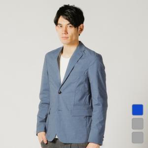 イグニオ◇清涼感のあるシャンブレー素材のジャケット ◇布面の独特な霜降りの風合いが特徴的で清涼感のあ...
