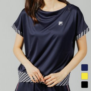 フィラ ◇半袖Tシャツ吸水速乾UVカット ■カラー: ペールイエロー ネイビー ブラック ■素材:ポ...