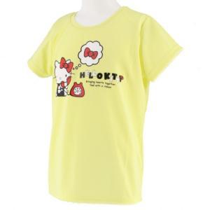 ◇キティ 電話 DRYTシャツ(吸汗速乾、UVカット)■カラー:ペールイエロー■素材:本体 ポリエス...