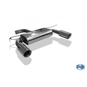 FOX フォックス オールステンレスマフラー(リアマフラー) AUDI TT(8S) 2.0TFSI (FF)用 100mm 斜め 左右|alpha-online-shop