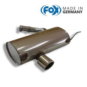 FOX フォックス オールステンレスマフラー(リアマフラー) BMW E87 120i用 90mm 斜め|alpha-online-shop
